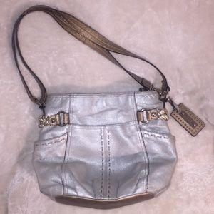 Tignanelle Gold and Silver Toned Purse & keychain